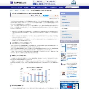 2015年3月期単独決算ベース「銀行114行 預貸率」調査