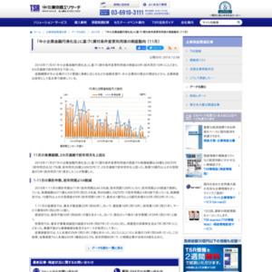 「中小企業金融円滑化法」に基づく貸付条件変更利用後の倒産動向 (11月)