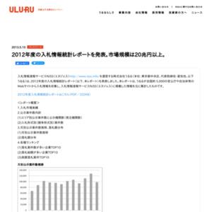 2012年度の入札情報統計レポート