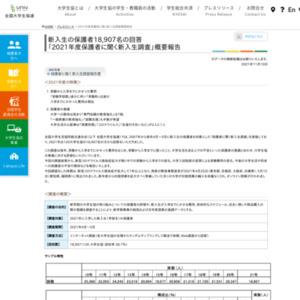2011年度保護者に聞く新入生調査の概要報告