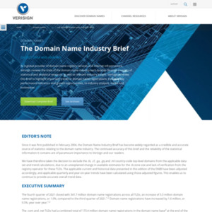 ドメイン名業界概要報告(Domain Name Industry Brief)