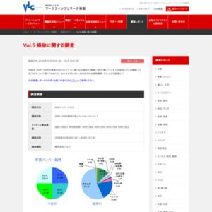 VOL.5 掃除に関する調査(2008/05)