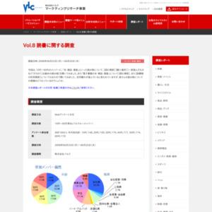 VOL.8 読書に関する調査(2008/06)