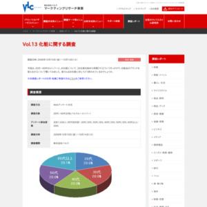VOL.13 化粧に関する調査(2008/10)