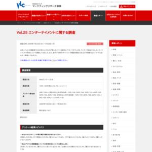 VOL.25 エンターテイメントに関する調査(2009/7)