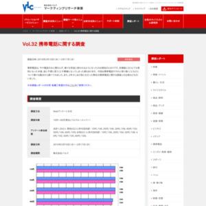 VOL.32 携帯電話に関する調査(2010/2)