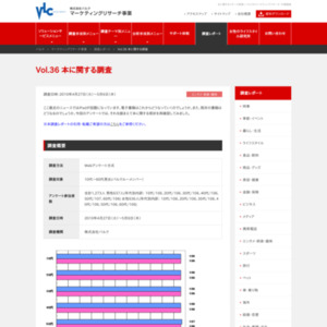 VOL.36 本に関する調査(2010/5)