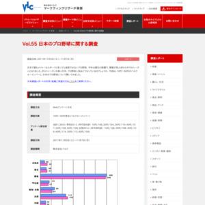 VOL.55 日本のプロ野球に関する調査(2011/11)