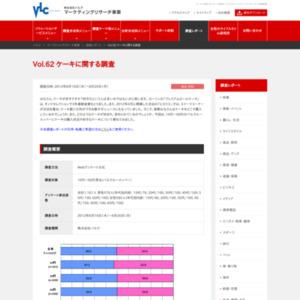 VOL.62 ケーキに関する調査(2012/8)