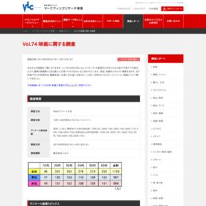 VOL.74 映画に関する調査(2013/6)