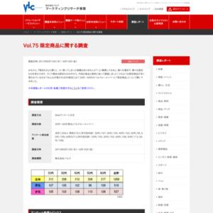 VOL.75 限定商品に関する調査(2013/8)