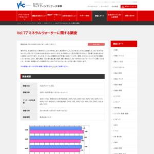 VOL.77 ミネラルウォーターに関する調査(2013/8)