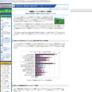 家電製品・パソコンに関するエコ度調査