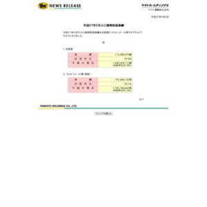 平成27年2月小口貨物取扱実績(ヤマト運輸)