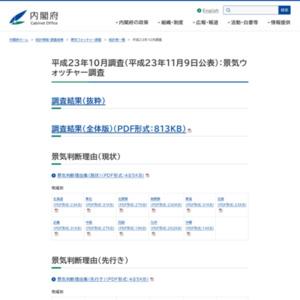 景気ウォッチャー調査(平成23年10月調査)