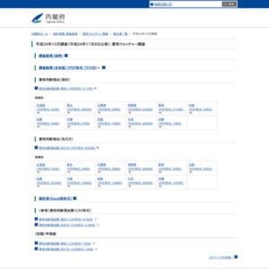 景気ウォッチャー調査(平成24年10月)