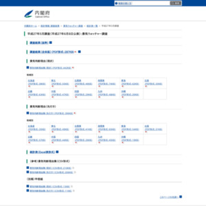 景気ウォッチャー調査(平成27年5月)