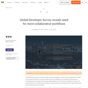 Global Developer Survey Reveals Need for More Collaborative Workflows