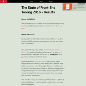 The State of Front-End Tooling 2016 - Results