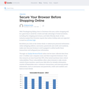 Secure Your Browser Before Shopping Online