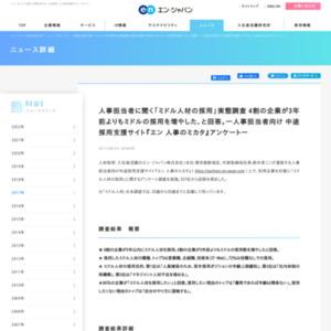 「ミドル人材の採用」に関するアンケート調査