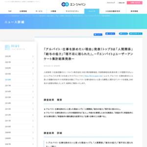 『エンバイト』ユーザーアンケート集計結果発表
