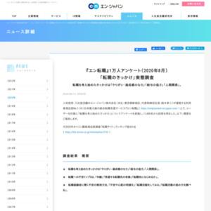 1万人アンケート(2020年8月)「転職のきっかけ」実態調査