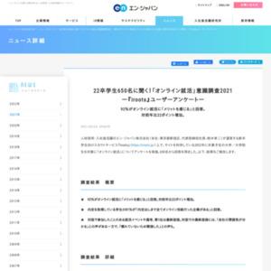 「オンライン就活」意識調査2021