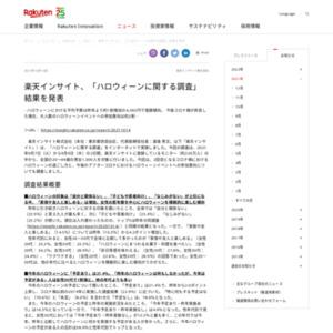 楽天インサイト、「ハロウィーンに関する調査」結果を発表