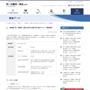 (詳細版)同一労働同一賃金に関する企業の取り組みアンケート調査結果