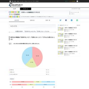 月例ネット世論調査2015年2月