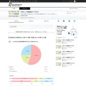 月例ネット世論調査2017年9月