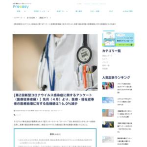 第2回新型コロナウイルス感染症に関するアンケート(医療従事者編)