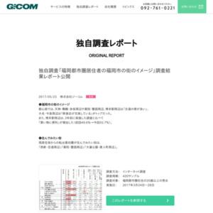「福岡都市圏居住者の福岡市の街のイメージ」調査