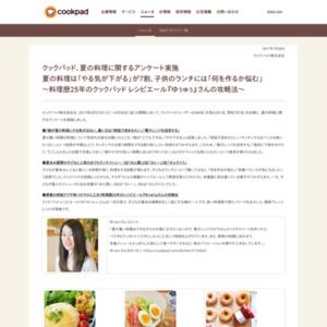 夏の料理に関するアンケート