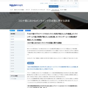 コロナ禍におけるオンラインでの活動に関する調査