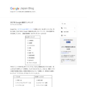 2017年 Google検索ランキング