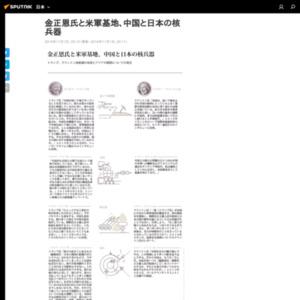 金正恩氏と米軍基地、中国と日本の核兵器