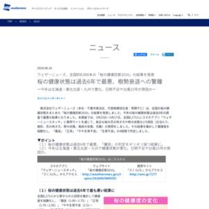 桜の健康診断2016