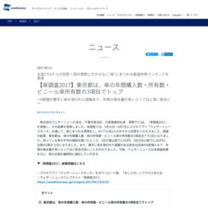"""""""傘""""にまつわる都道府県ランキング"""