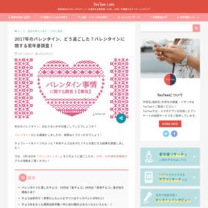 2017年のバレンタイン事後調査