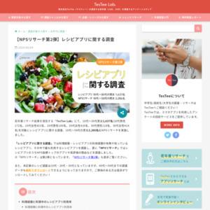 レシピアプリに関する調査