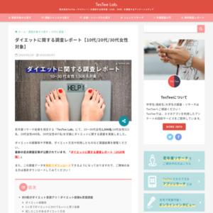 ダイエットに関する調査レポート【10~30代女性対象】