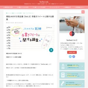 現役JKのぞき見企画【Vol.3】手書きツイートに関する調査
