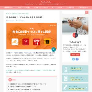 飲食店検索サービスに関する調査【前編】