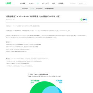 〈調査報告〉インターネットの利用環境 定点調査(2018年上期)