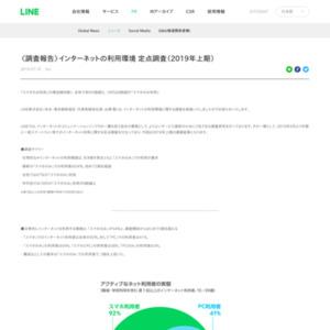 インターネットの利用環境 定点調査
