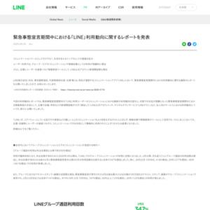緊急事態宣言期間中における「LINE」利用動向に関するレポートを発表