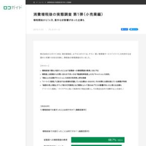 消費増税後の実態調査 第1弾(小売業編)