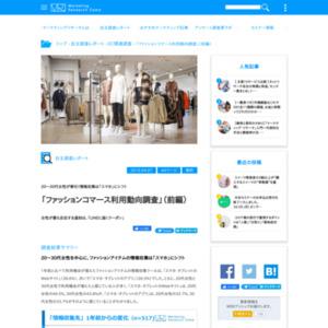 「ファッションコマース利用動向調査」(前編)